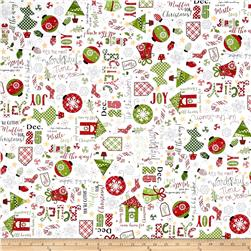 Maywood Studio Jingle All The Way Jingle Toss White