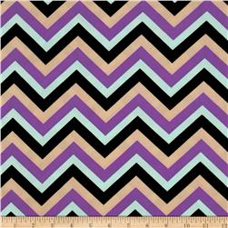 Stretch ITY Jersey Knit Chevron Multi Fabric