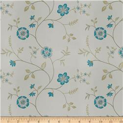 Trend 04255 Faux Silk Turquoise Ivory