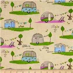 Happy Camper Campers Allover Beige
