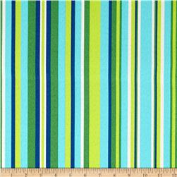 Tempo Indoor/Outdoor Hombre Stripe Azure
