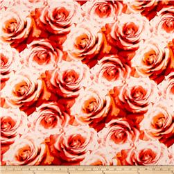 Jersey Knit Rose Print Red