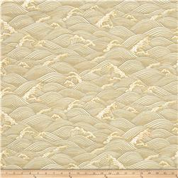 Zen Garden Metallic Waves Cream/Gold