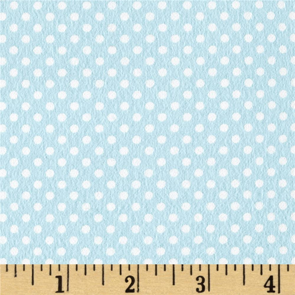 Moda Sweet Baby Flannel Tiny Dot Sky