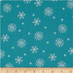 Frosty Flakes Snowflakes Blue