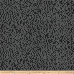 Kendall Wilkinson Swaying Reeds Indoor/Outdoor Jacquard Black Rock