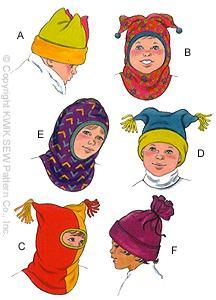 Kwik Sew Unisex Children Hats Pattern