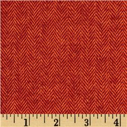 Primo Plaids Christmas Flannel Herringbone Rust