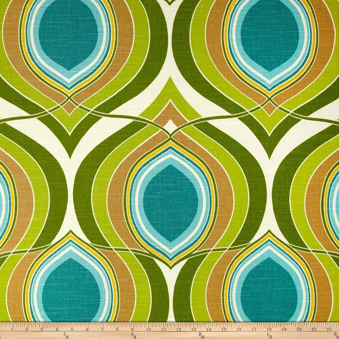 HGTV Home Groove Move Turquoise Fabric