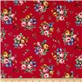 Newport Flannel Small Floral Red