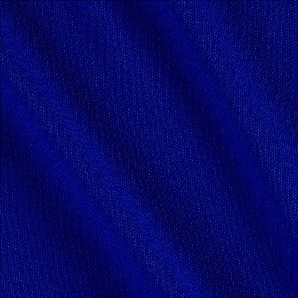 Bubble Crepe Solid Electric Blue
