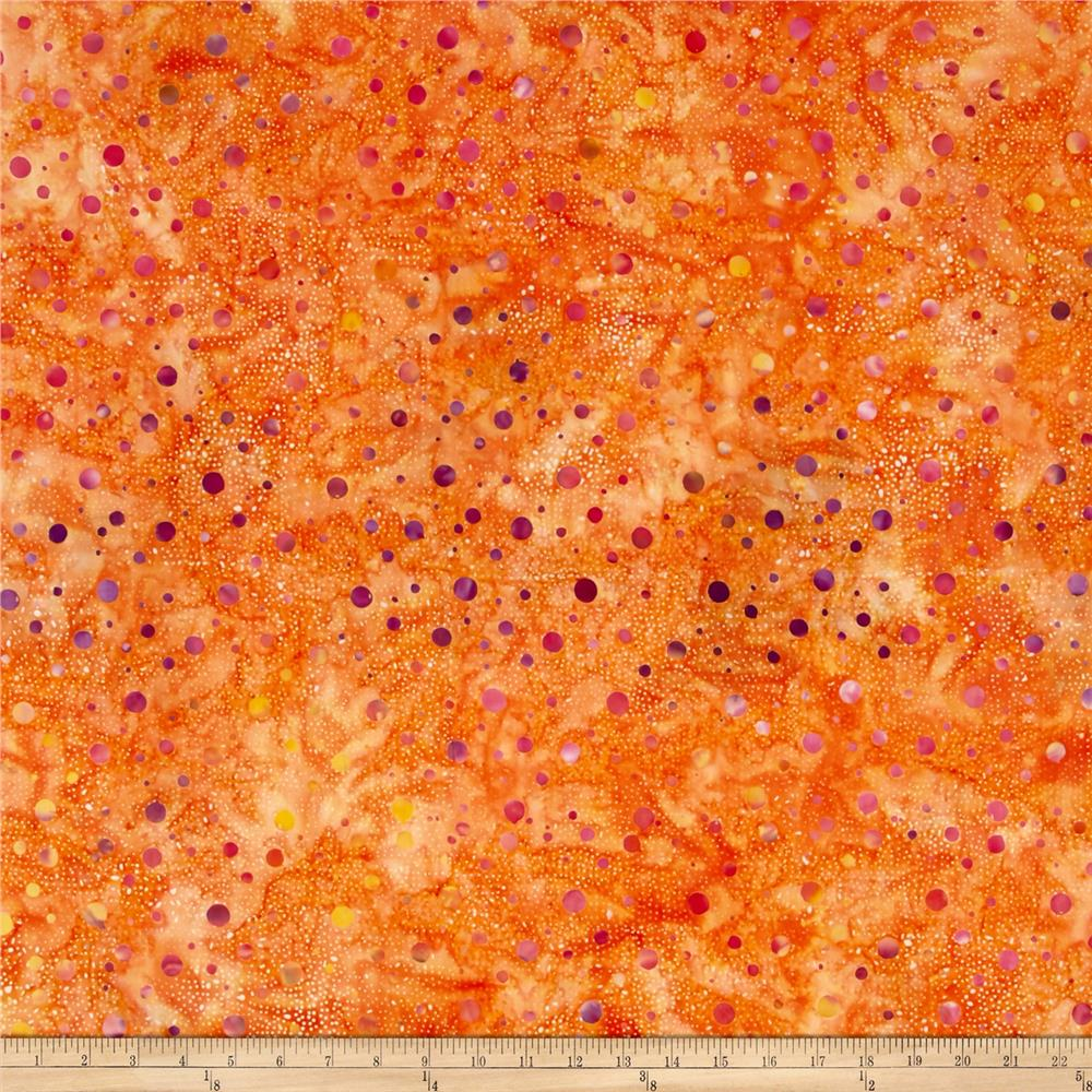 Batik Central Java Dots Orange/Fuchsia/Purple