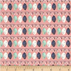 Fabric Freedom Woodland Floral Stripe Aqua