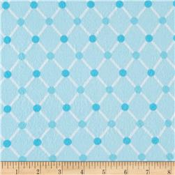 Kaufman Cozy Cotton Flannel Trellis Aqua