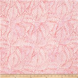 Wilmington Batiks Packed Leaves Pink
