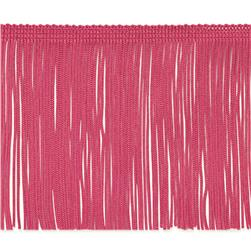 "4"" Chainette Fringe Trim Hot Pink"