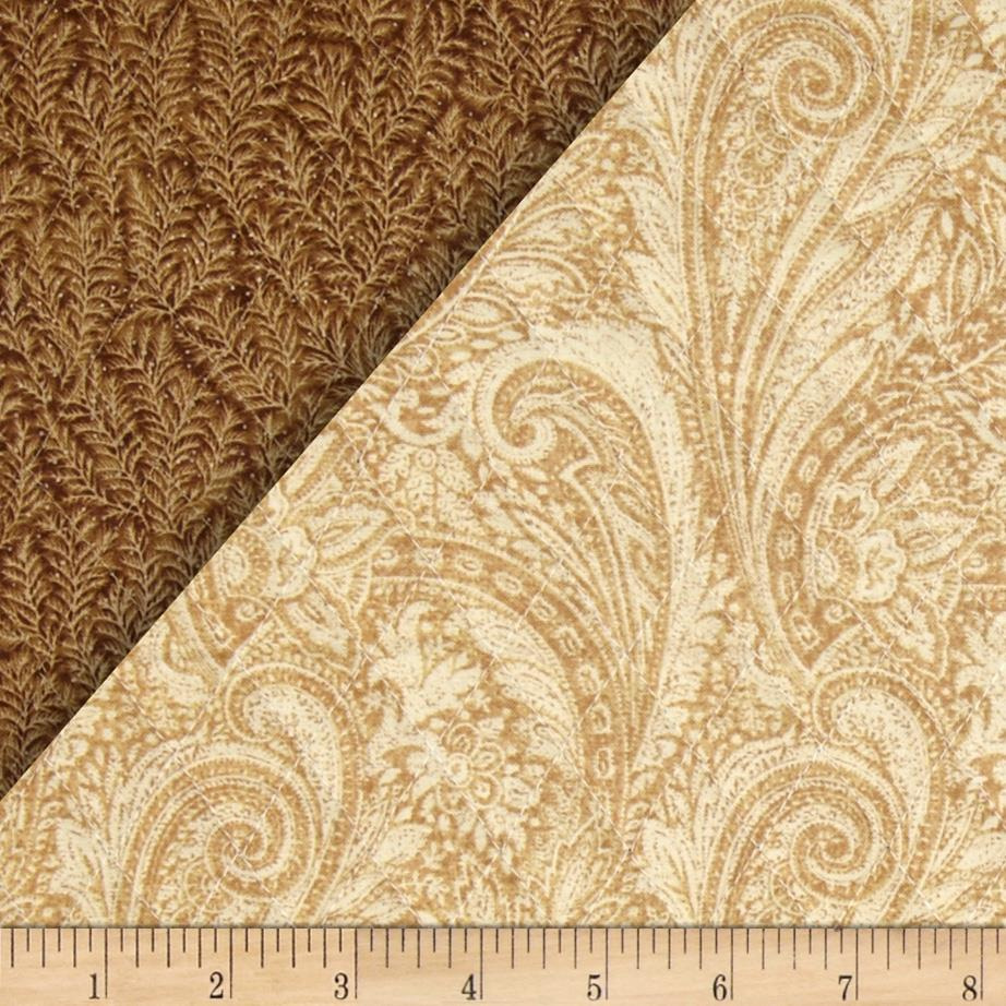 Lauren Double Sided Quilted Paisley Tan