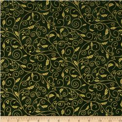 Holiday Accents Classics 2013 Metallic Holly Vine Green