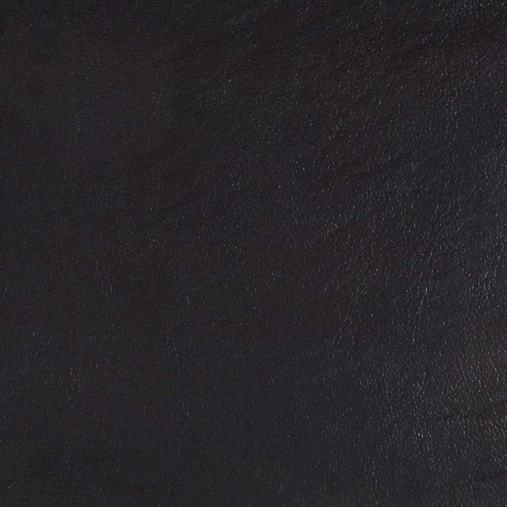 Flannel Backed Faux Leather Vinyl Black