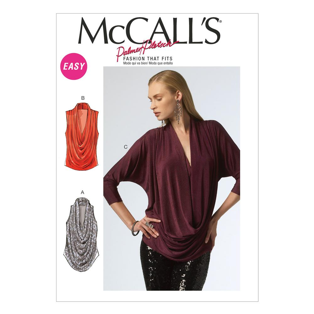 McCall's Misses' Tops Pattern M6841 Size 0Y0