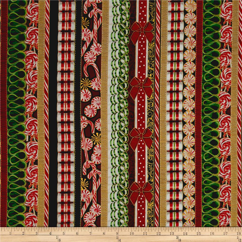 Suite Christmas Metallic Land Of The Sweets Stripe Candy Cane