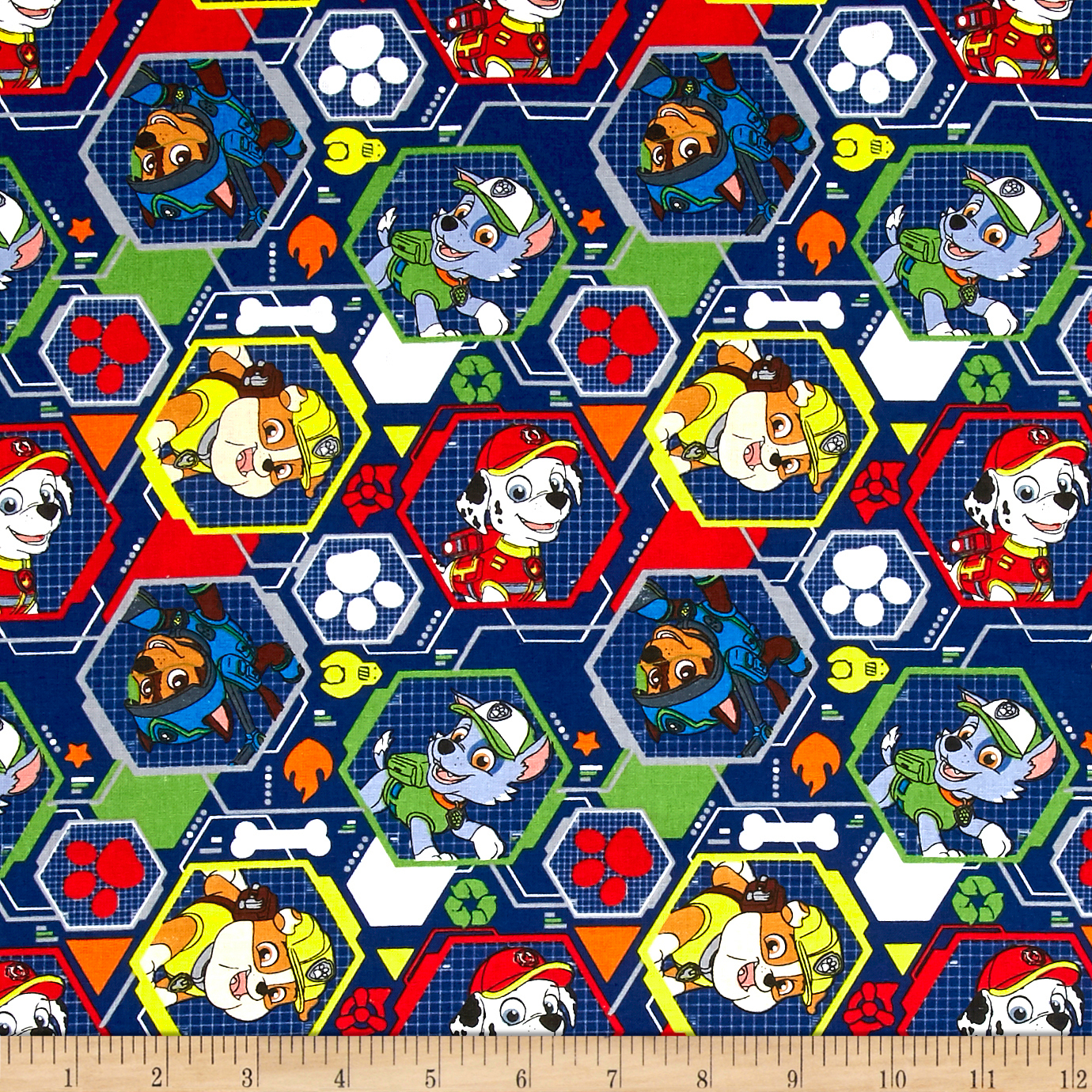 Nickelodeon Paw Patrol Mission Pawsible Navy Fabric by David in USA