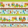 Owl Wonderful Flannel Repeating Stripe Multi