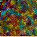 Double Face Quilted Indian Batik Abstract Bright Multi
