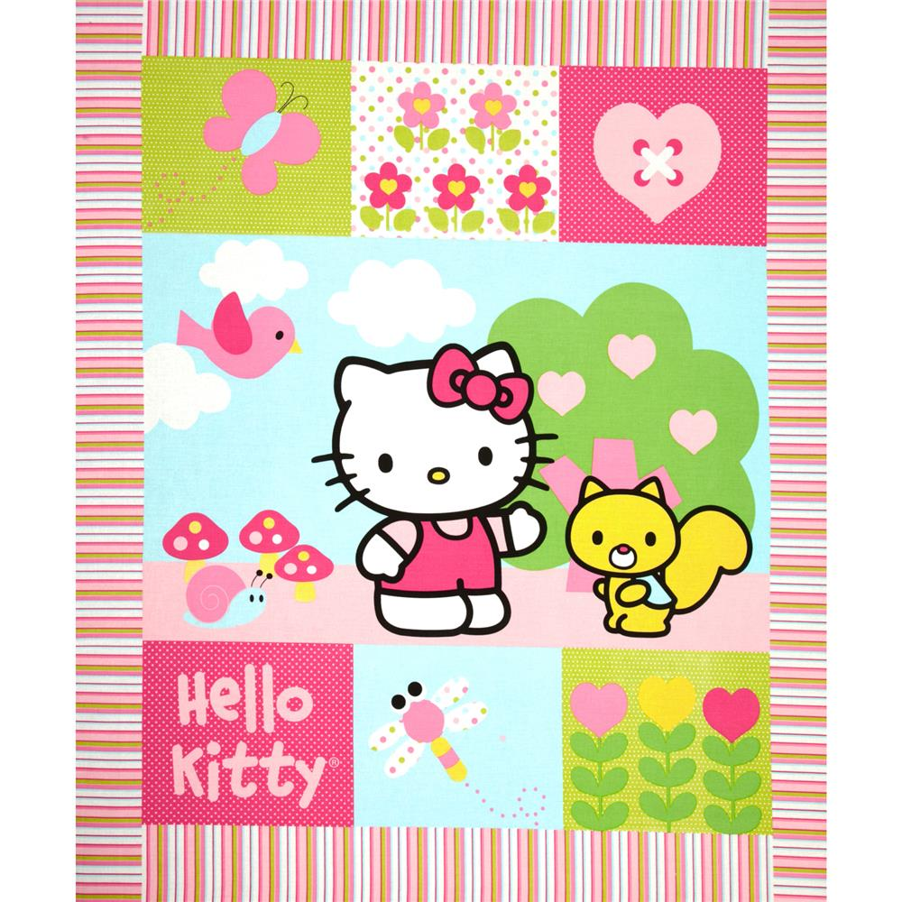 Hello Kitty Patch Wallhanging Panel Pink