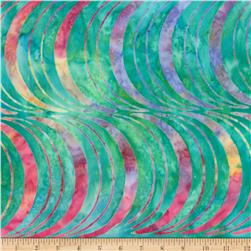 Kaufman Artisan Batiks Optical Illusion Half Moons Multi