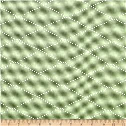 Ikebana Diamond Dots Abstract Green