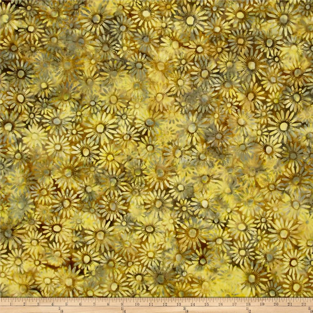 Bali Batiks Handpaints Daisies Watercress
