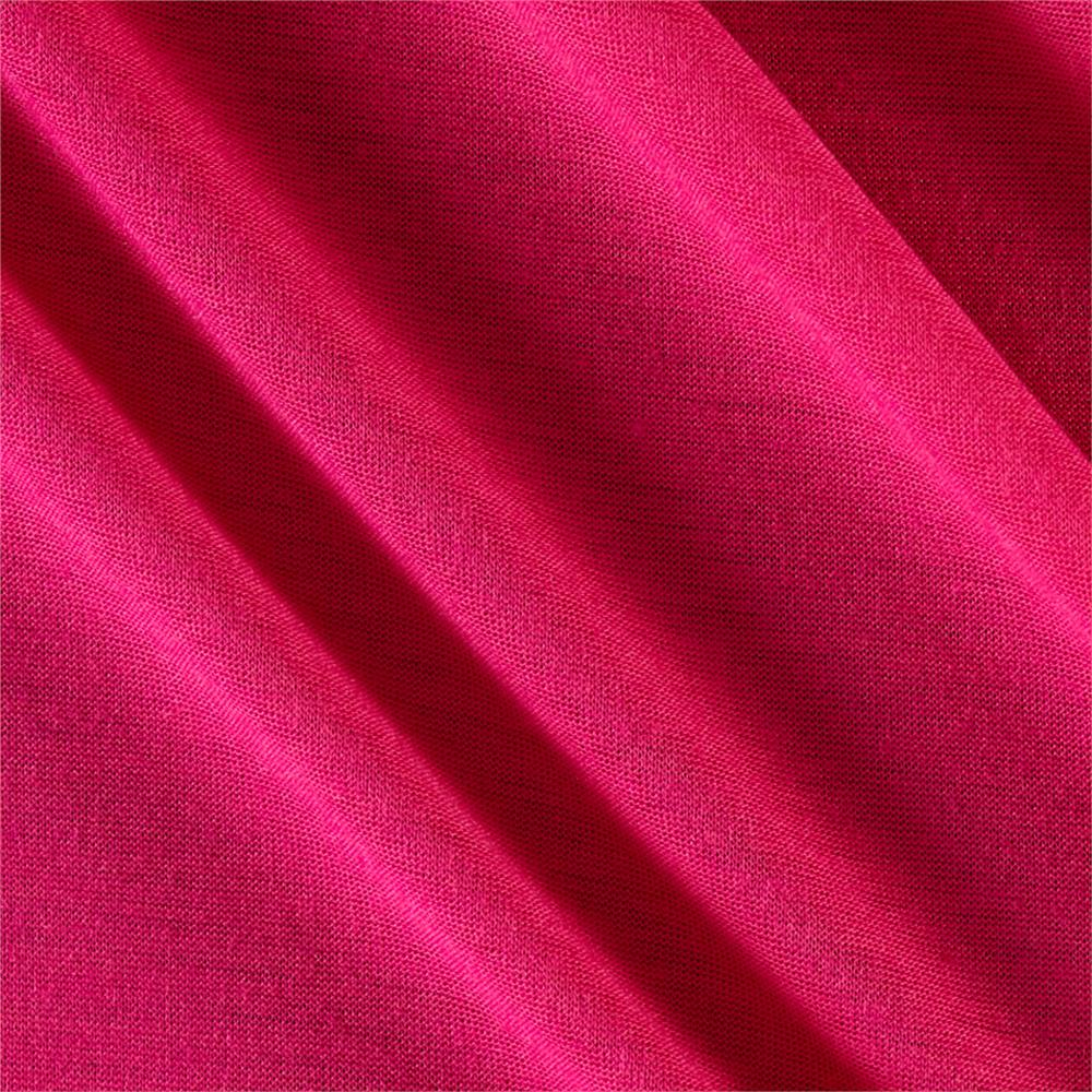 Polyester Jersey Knit Solid Soft Hot Pink Fabric By The Yard