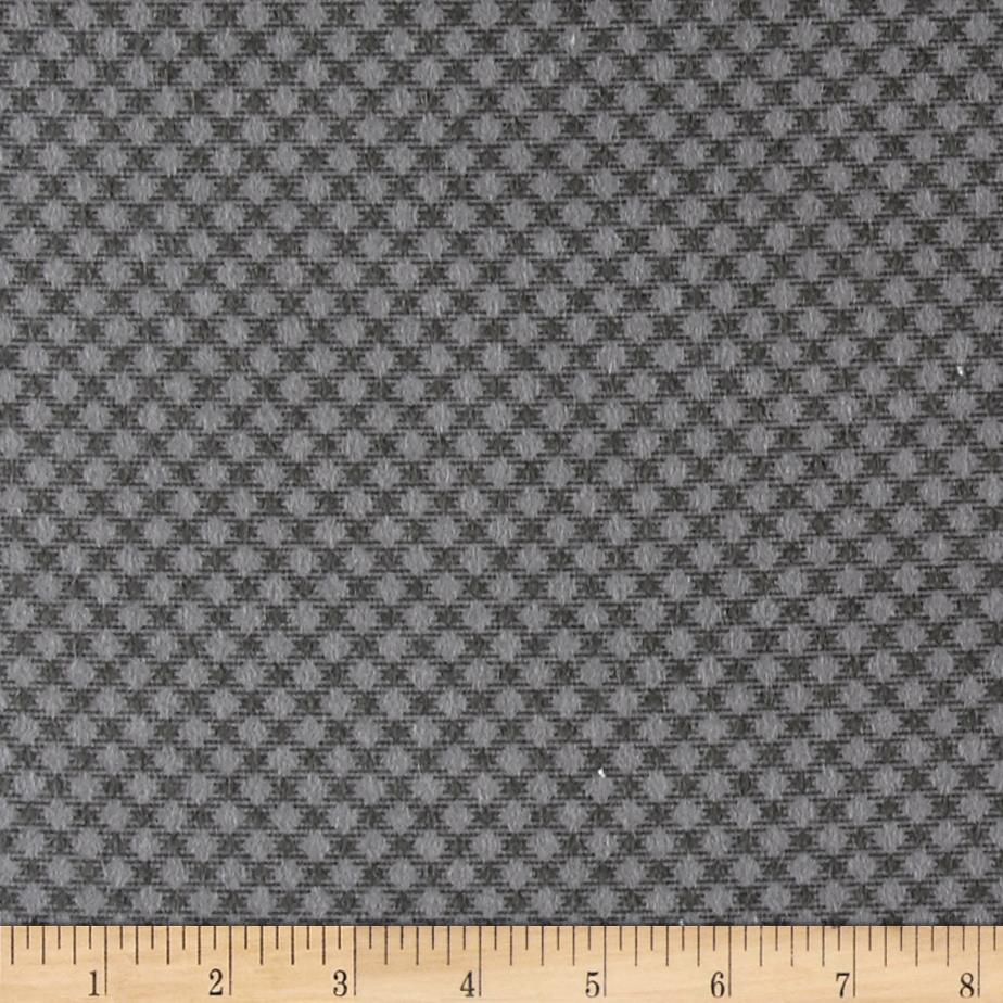 Cozies Flannel Large Check Grey Fabric By The Yard