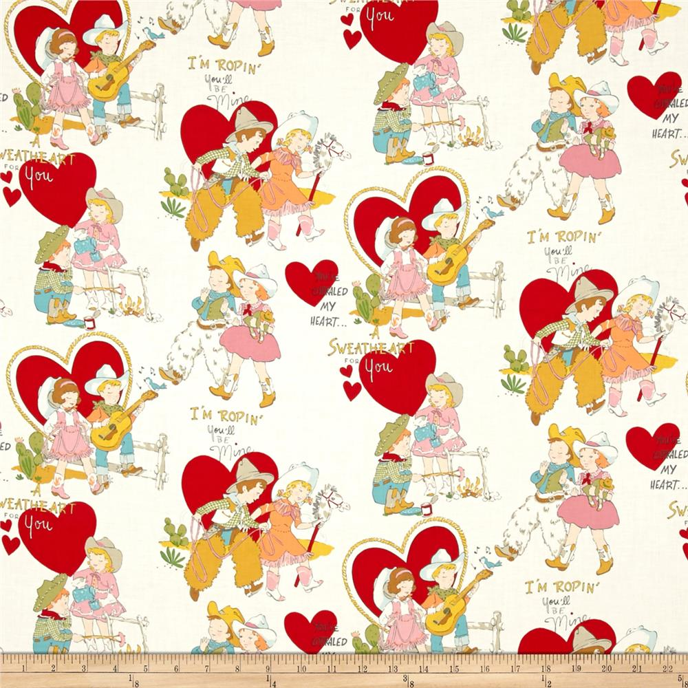 Alexander henry monkey 39 s bizness i 39 m roping you 39 ll be mine for Nursery monkey fabric