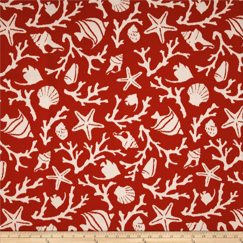 Bella Dura Eco-Friendly Indoor/Outdoor Sanibel Jacquard Red