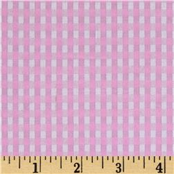 "60"" Cotton Blend Woven 1/8'' Gingham Pink"