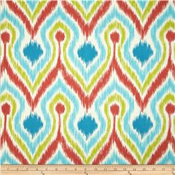 Tempo Ogee Wave Coral/Blue/Green Fabric
