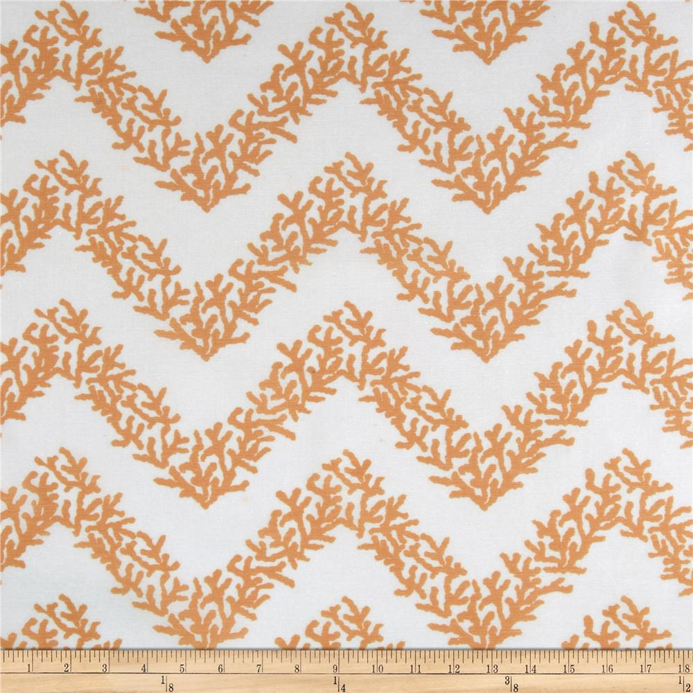 RCA Coral Chevron Sheers Orange