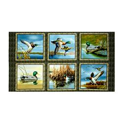 "Duck Lake Picture 24"" Panel Patches Multi"