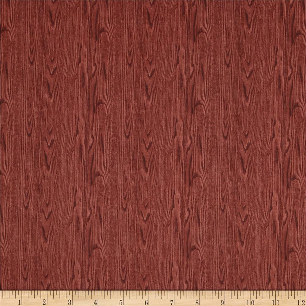Landscape Medley Wood Texture Red