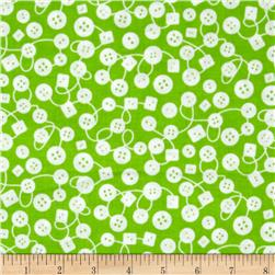 Michael Miller Kids Bouncy Buttons Fern