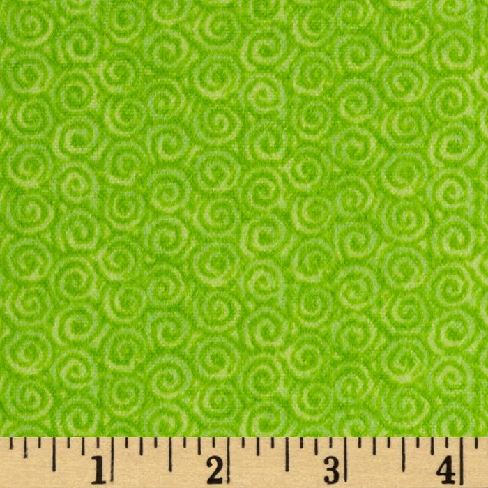 Lollipop Flannel Swirls Pistachio