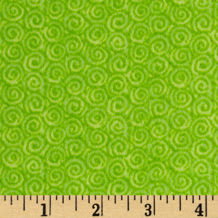 Lollipop Flannel Swirls Pistachio Fabric