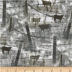 Judy Niemeyer's Reclaimed West Barbed Wire w/ Cows Fog