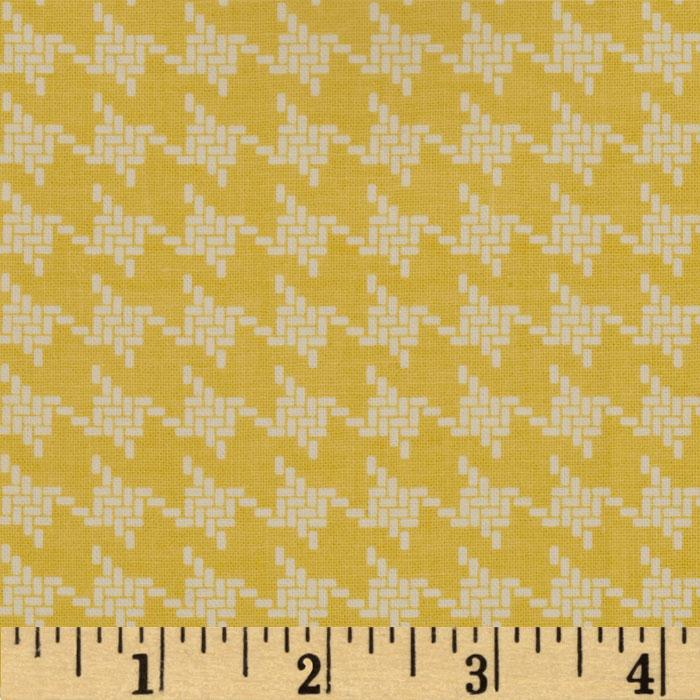 Riley Blake Avignon Houndstooth Yellow