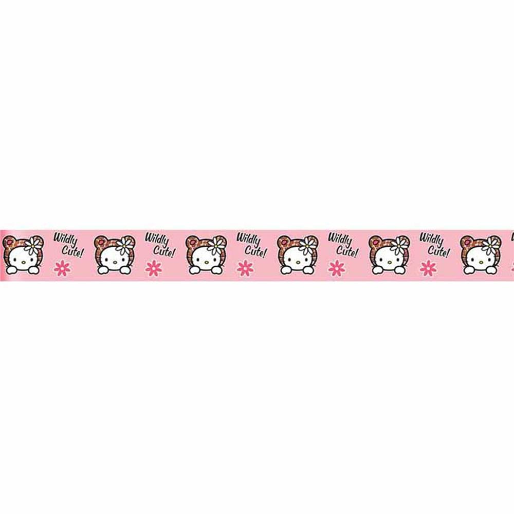 7/8'' Hello Kitty Ribbon Pink/Chocolate