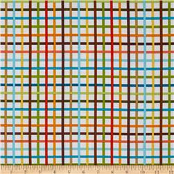 Robert Kaufman Rainbow Remix Grid Bermuda