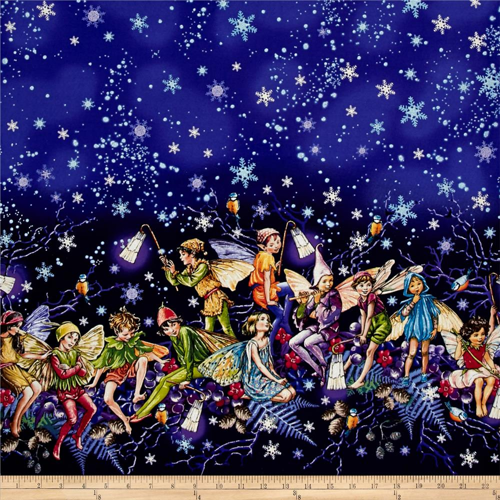 Michael Miller Flower Fairies Enchanted Fairies Double Border