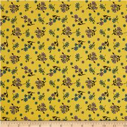 Urban Amish Medium Tossed Flowers Yellow